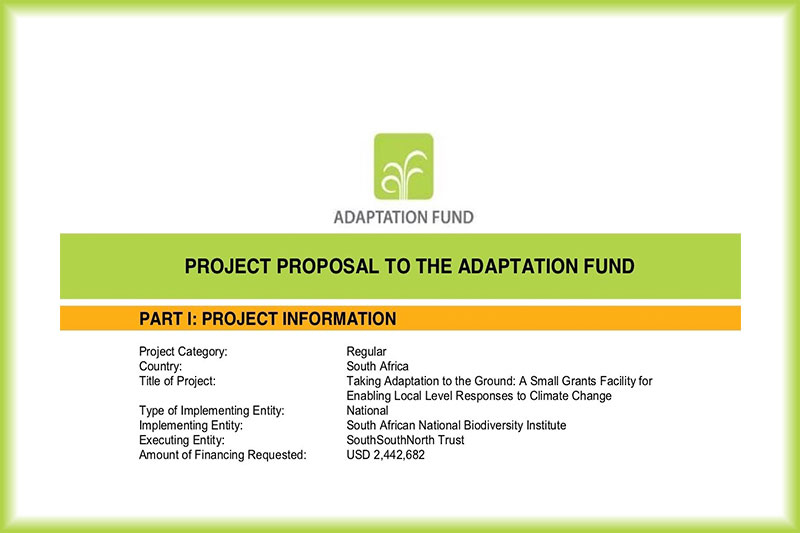 SGF Project Proposal to the Adaptation Fund