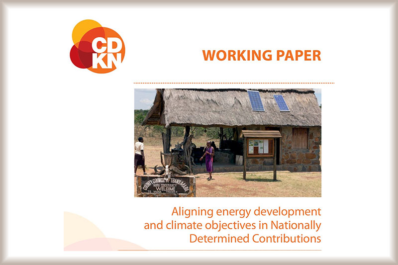 Aligning energy development and climate objectives in Nationally Determined Contributions