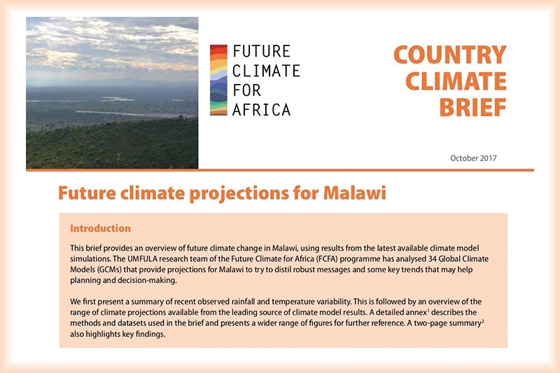 Future Climate for Africa – Malawi Climate Brief