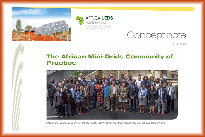 Africa Mini-Grids Community of Practice Concept Note