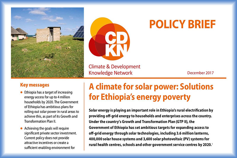 A climate for solar power: Solutions for Ethiopia's energy poverty