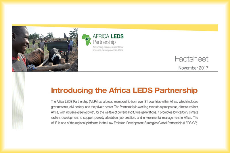 Africa LEDS Partnership Factsheet