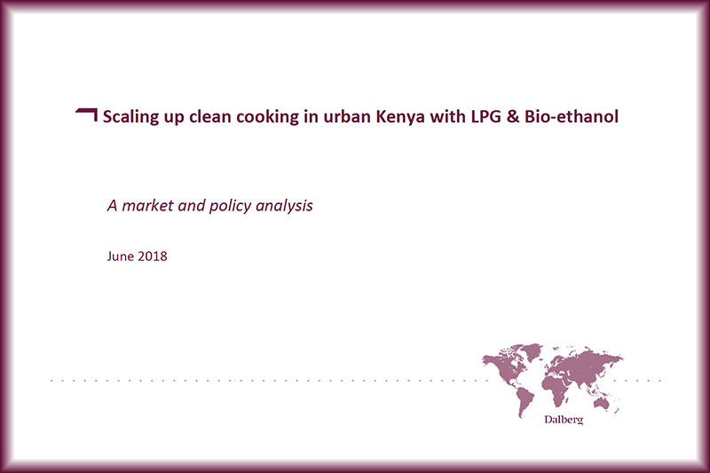 Scaling up clean cooking in urban Kenya with LPG & Bio-ethanol