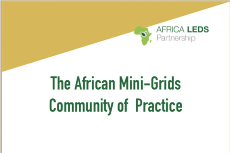 Africa Mini-Grids Community of Practice Concept Note Revised