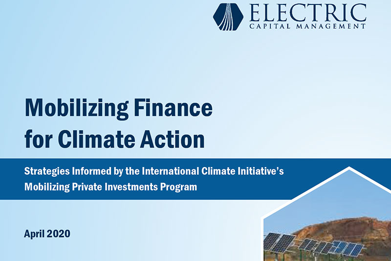 Mobilising finance for Climate Action