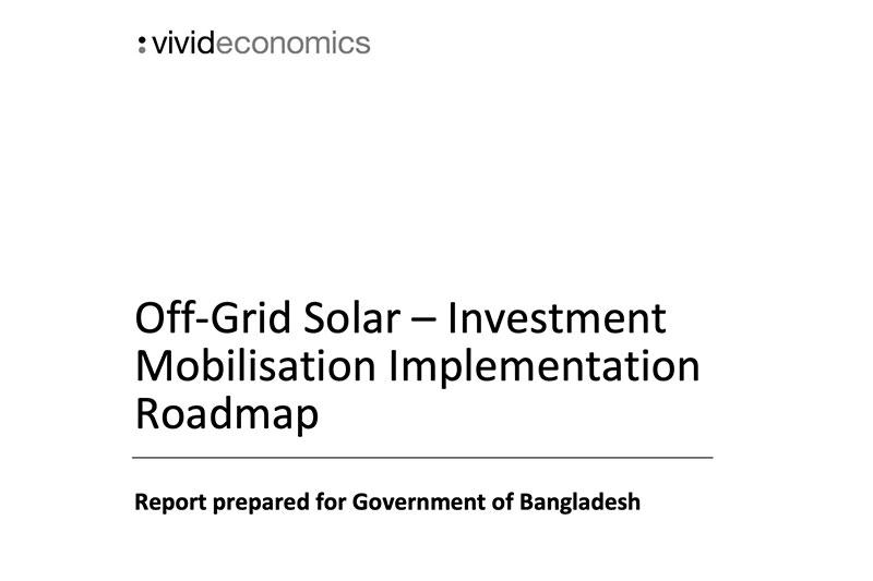 Off-Grid Solar – Investment Mobilisation Implementation Roadmap